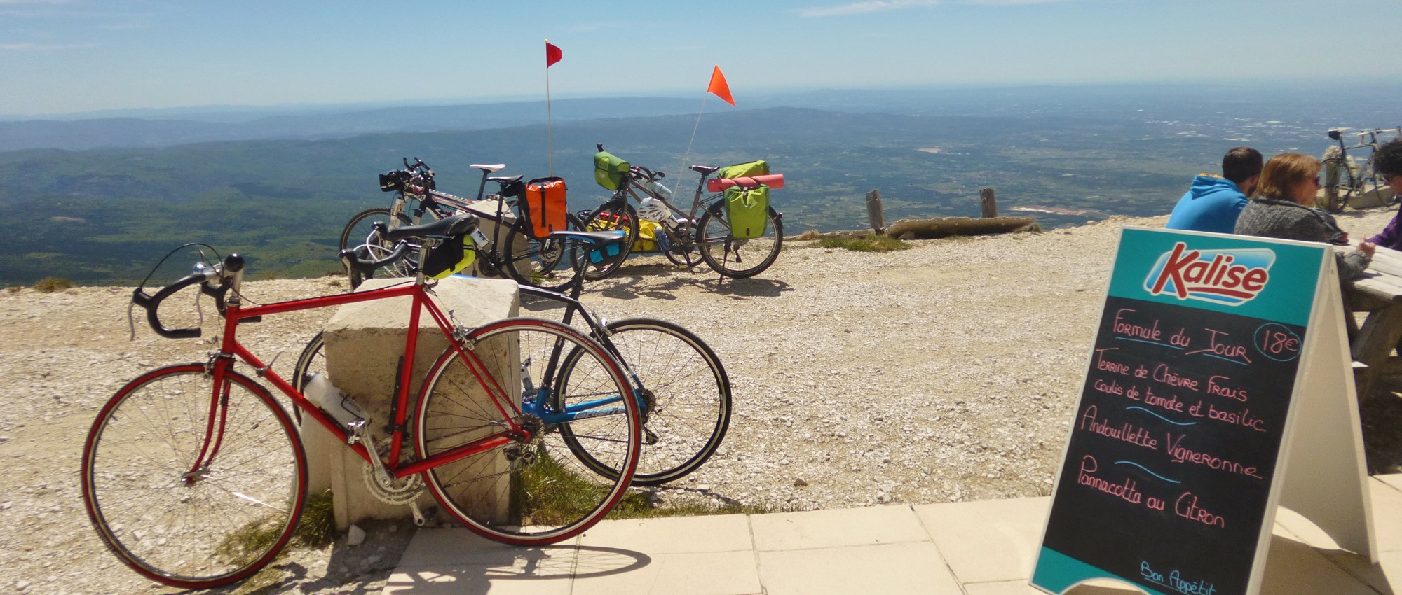 Montpellier to Mont Ventoux - Restaurant Vendran at the summit
