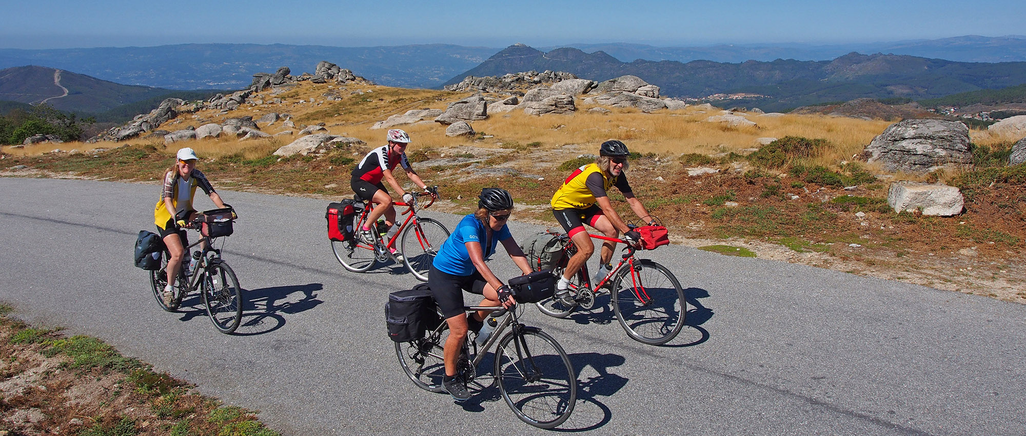Cycling the granite mountains of Portugal